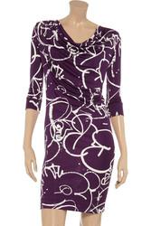 Платье из шелкового джерси брендовое