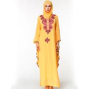 Мусульманское платье светло желтого цвета из шифона