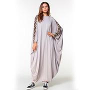 Платье свободного размера цвета магнолия с рукавом летучая мышь