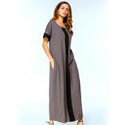 Длинное арабское платье с черной полоской