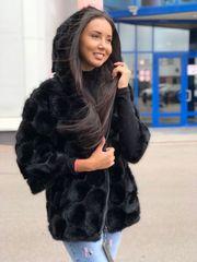 Вязанная норка импортный мех,  куртка