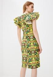 Платье женское желтое цветочный рисунок продам астана