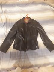 Кожанная тонкая куртка женская на 48-50
